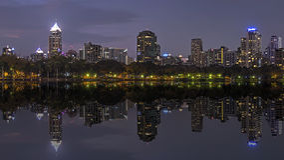 Benjasiri Park Bangkok Stock Photo