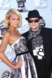 Benji Madden,Paris Hilton royalty free stock image