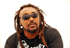 Benji Webbe from Skindred band. In Czech republic, July 4, 2010 stock photo