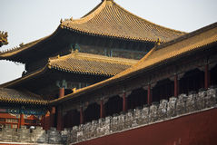 Benjing. The historical Forbidden City Museum in the center of Beijing Royalty Free Stock Photography