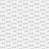 Benmodell för hund stock illustrationer