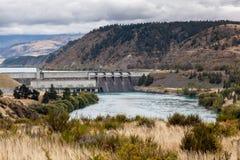 BENMORE jezioro AVIEMORE/NEW ZEALAND, LUTY 22, -: Benmore władza zdjęcia stock