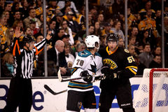 Benn Ferreiro and Johnny Boychuk (NHL Hockey) Stock Image