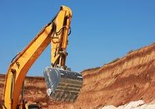 Benna dell'escavatore Fotografie Stock