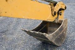 Benna dell'escavatore a cucchiaia rovescia Immagine Stock Libera da Diritti