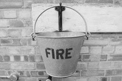Benna di fuoco Fotografia Stock
