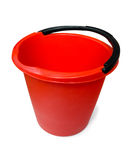 Benna di plastica rossa Fotografia Stock