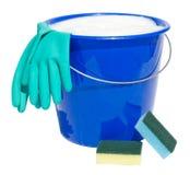 Benna di pulizia isolata Fotografia Stock Libera da Diritti