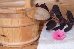 Benna di sauna Immagine Stock