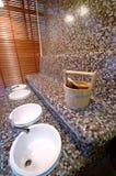 Benna di sauna fotografie stock libere da diritti