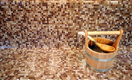 Benna di sauna fotografia stock libera da diritti