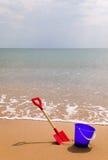 Benna e forcella della spiaggia Immagine Stock