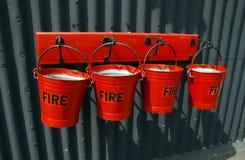Benne di fuoco Immagini Stock