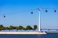 Benne suspendue à Lisbonne photographie stock libre de droits