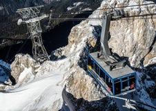 Benne suspendue autrichienne à Zugspitze Photo libre de droits