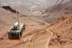 Benne suspendue de Masada - Israël Images stock