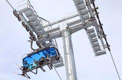 Benne suspendue moderne dans la station de sports d'hiver Jasna, Slovaquie Photo stock
