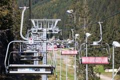 Benne suspendue vide chez bas Tatras, Slovaquie Image stock