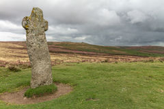 Bennets Cross Dartmoor. Bennett's Cross – why, because somebody pinched his pasty! Well hardly, Bennett's Cross in an ancient, granite wayside cross that Royalty Free Stock Image