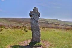 Bennett's Cross on Dartmoor moor Stock Images