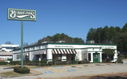 Bennigan's. TYLER, TEXAS - DEC. 29: In July 2008, all company-owned Bennigan's restaurants, about 150, were closed when the owner, S&A Restaurant Group, filed Royalty Free Stock Image
