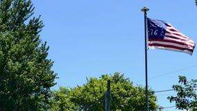 Bennington 76 Ameryka flagi falowanie w wiatrze