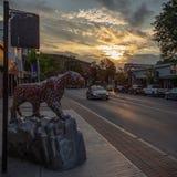 Bennington del centro Vermont fotografia stock libera da diritti