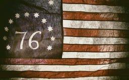 Bennington Flag American 76. The Bennington flag,a version of the American flag associated with the American Revolution Battle of Bennington, where it gets its Stock Photos