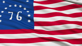 Bennington USA Close Up Waving Flag. Bennington United States of America Flag, Close Up Realistic 3D Animation, Seamless Loop - 10 Seconds Long stock video footage