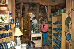 Bennington vermont state usa pottery house. There is one of the famous attraction of Bennington, State Vermont, USA as Pottery  House  with  active pottery right Royalty Free Stock Images