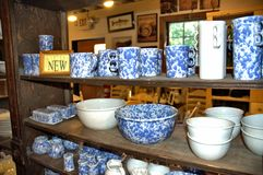 Bennington vermont state usa pottery house. There is one of the famous attraction of Bennington, State Vermont, USA as Pottery  House  with  active pottery right Stock Image
