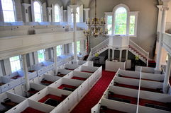 Bennington, VT: Interior of First Congregational Church Stock Photo