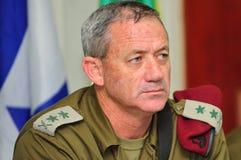 Benny Gantz - IDF-stabschef som är allmän Fotografering för Bildbyråer