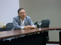 Benny Tai, organisateur de occupent le central Photos libres de droits