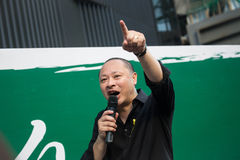Benny Tai Yiu-ting, co-founder of Occupy Central with Love and Peace Stock Photos