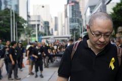 Benny Tai Yiu-ting, Co-grundaren av Occupy centralen med förälskelse och fred Royaltyfri Fotografi