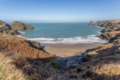 Benoath cove and Bossiney haven Royalty Free Stock Photos