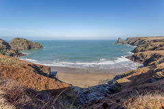 Benoath cove and Bossiney haven Royalty Free Stock Image