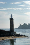 Benodet lighthouse in  Brittany Royalty Free Stock Image