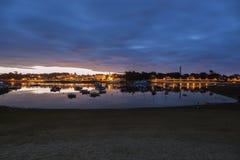 Benodet panorama at sunrise Royalty Free Stock Image