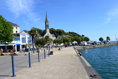 Benodet Quay Brittany Royalty Free Stock Images