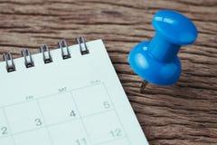 Benoeming, uiterste termijn, vakantie of datum planningsconcept, grote blu royalty-vrije stock foto's