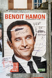 Benoit Hamon, French Presidential Electoral Campaign Posters van. STRASBOURG, FRANCE - APR 23, 2017: Official campaign posters of Benoit Hamon,political party Stock Image