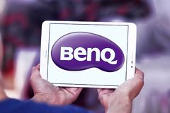 BenQ Corporation logo. Logo of BenQ Corporation on samsung tablet . BenQ is a Taiwanese multi-national company that sells and markets technology products Stock Photo