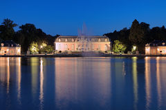 Benrath pałac w Dusseldorf przy wieczór, Niemcy Obraz Stock