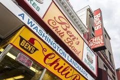 Bens Chili Bowl, Washington royaltyfri foto