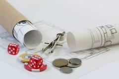 bens imobiliários, arquitetura, indústria da construção civil Fotografia de Stock Royalty Free