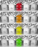Bens imobiliários do mercado do líder das bandeiras Foto de Stock