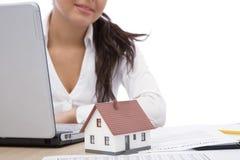Bens imobiliários e comunicação Imagem de Stock