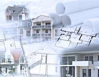 Bens imobiliários e modelos Imagens de Stock